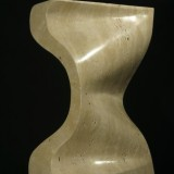 Skulptur, 70 cm Travertin