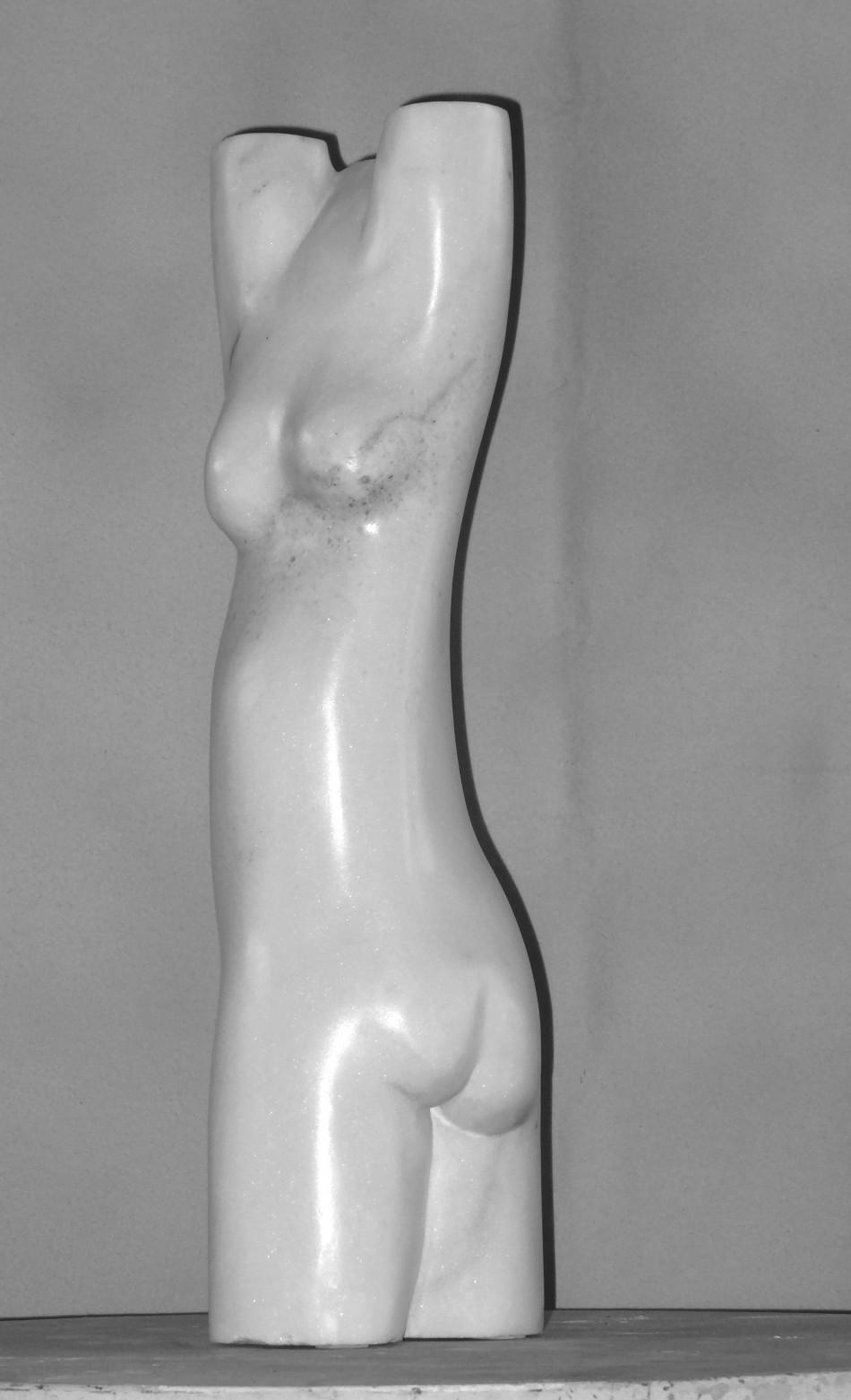 Torso, 60cm, marmor weiß