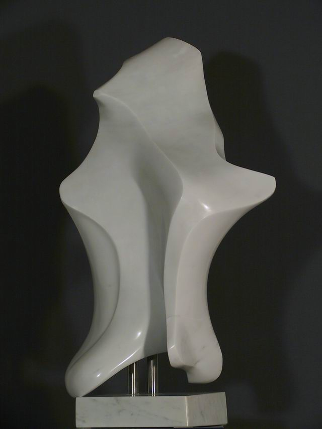 Vogel, 80 cm Marmor Carrara