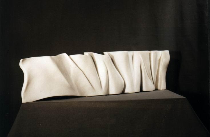 Welle 100 cm x 25 cm, Marmor Carrara